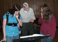 Discussing Lute Tablature with students-October 2010